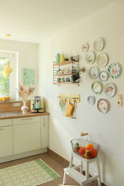 DIY-herbstliche Wandteller selber gestalten