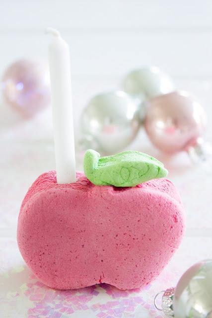 Mini Kerzenhalter aus Salzteig