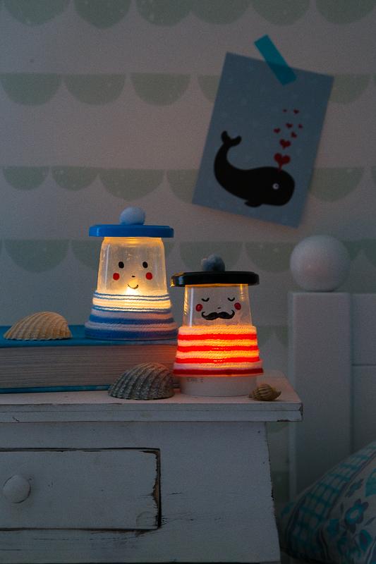 """Nachtlicht - DIY Idee aus meinem Buch """"Basteln mit Kids"""""""