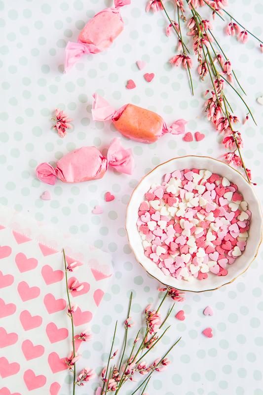 Selbstgemachte Sahne Toffees zum Valentinstag
