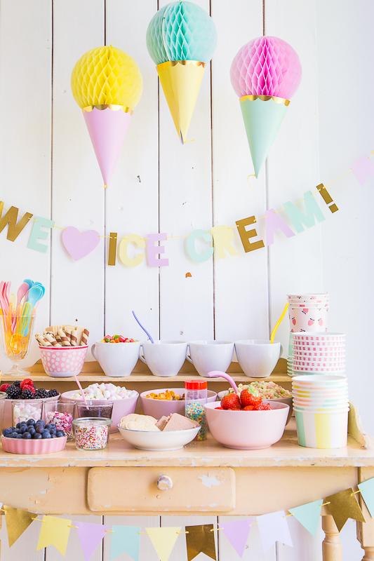 Eiscreme - Geburtstagsparty