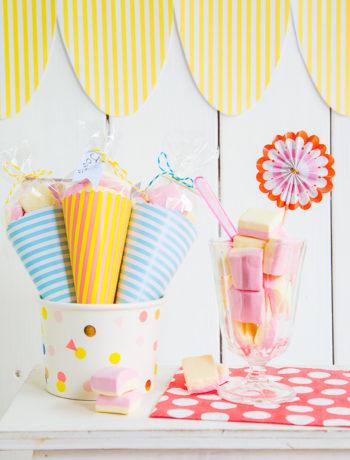 Geburtstagseinladung für eine Eiscreme-Party