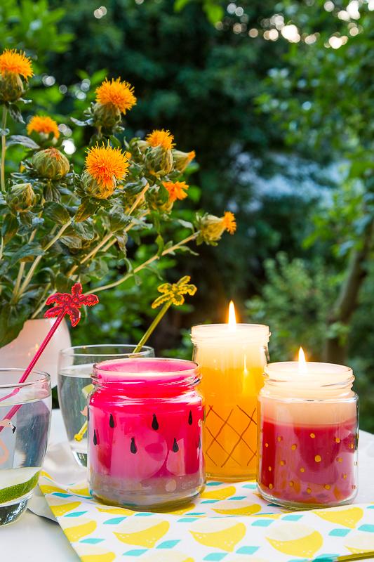 DIY - sommerliche Kerzen selber machen + Verlosung*