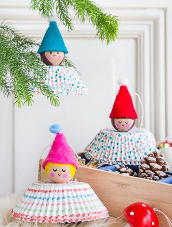 Weihnachtsbaumschmuck aus Muffinförmchen