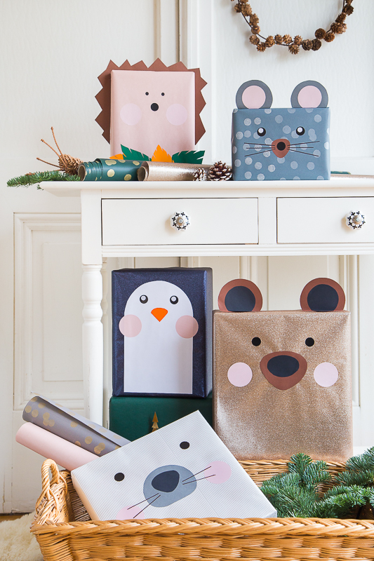 Weihnachtsgeschenke tierisch verpacken