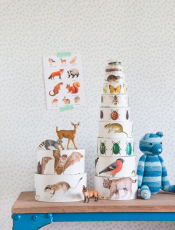 schönes Kinderspielzeug selbermachen - Stapelbecher