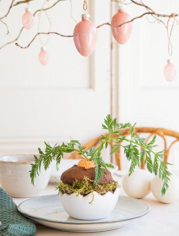 Süße Versuchung für Ostern – Schokomuffins mit Topping