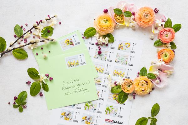 Schritt für Schritt zum selbstgestalteten Flatlay - für Briefmarke individuell der Deutschen Post *