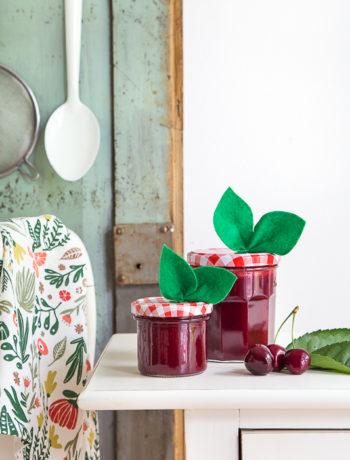 Geschenkidee - Kirschmarmelade selbermachen und verpacken