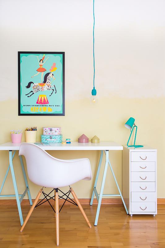 Kinderzimmergestaltung mit der neuen Trendfarbe Stilltalent im Ombre Style