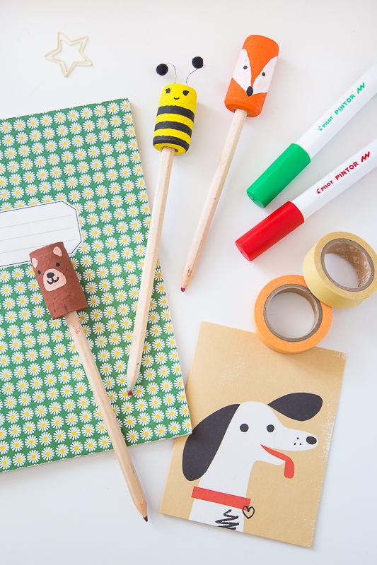 DIY Upcycling aus Korken - süße Aufsätze für Stifte