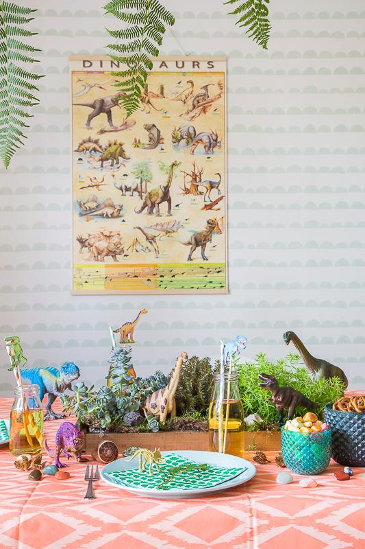 Kindergeburtstag - gigantische Dinosaurier Party Ideen