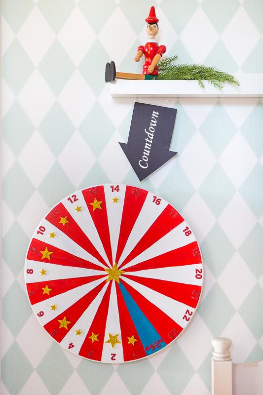 DIY Adventsuhr - Countdown bis Weihnachten