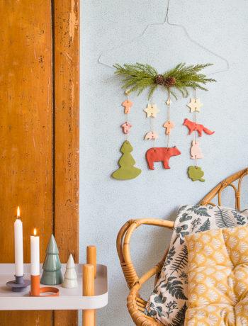DIY - ein Winterwald als Wanddekoration