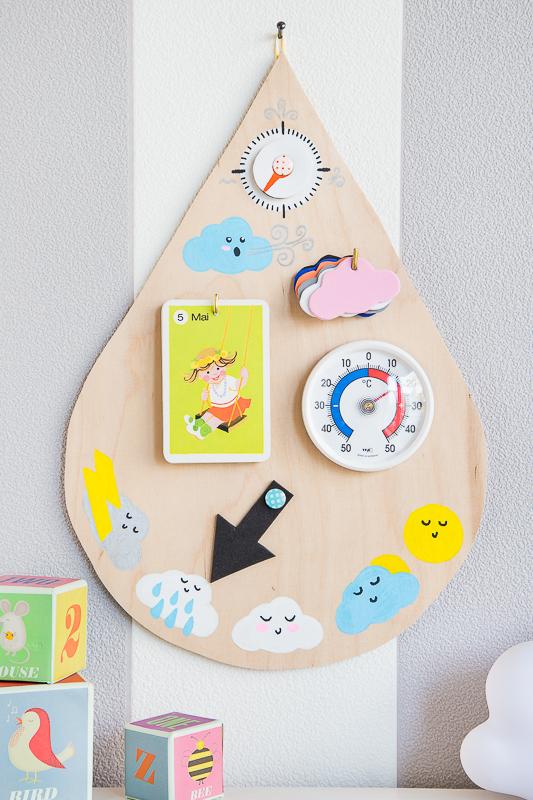 Spielzeug für Kids selber machen - eine Wetterstation