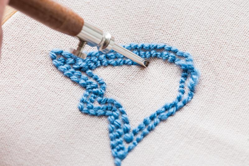 Punch Needle für Anfänger - Servietten für den Ostertisch