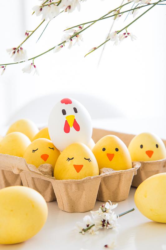 Ostereier natürlich färben und ganz einfach gestalten